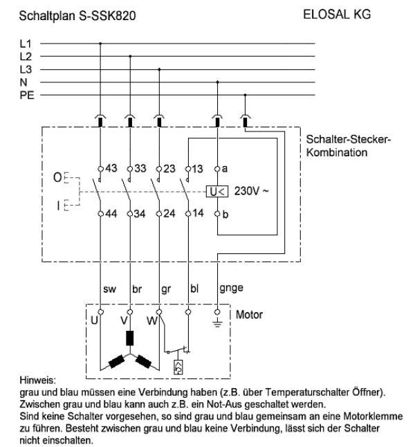 Schalter - Stecker - Kombination